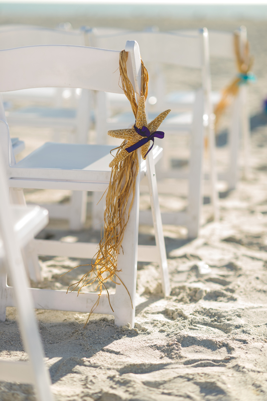 Starfish ceremony chair - Tradewinds Island Grand Resort beach wedding - st pete beach - Jaime DiOrio Photography - Destination Orlando wedding photographer -  (38).JPG
