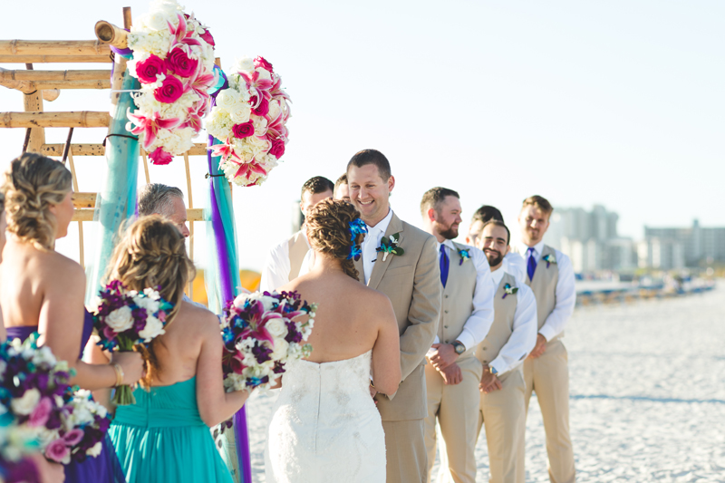 Bride and groom during beach ceremony - Tradewinds Island Grand Resort beach wedding - st pete beach - Jaime DiOrio Photography - Destination Orlando wedding photographer -  (45).JPG