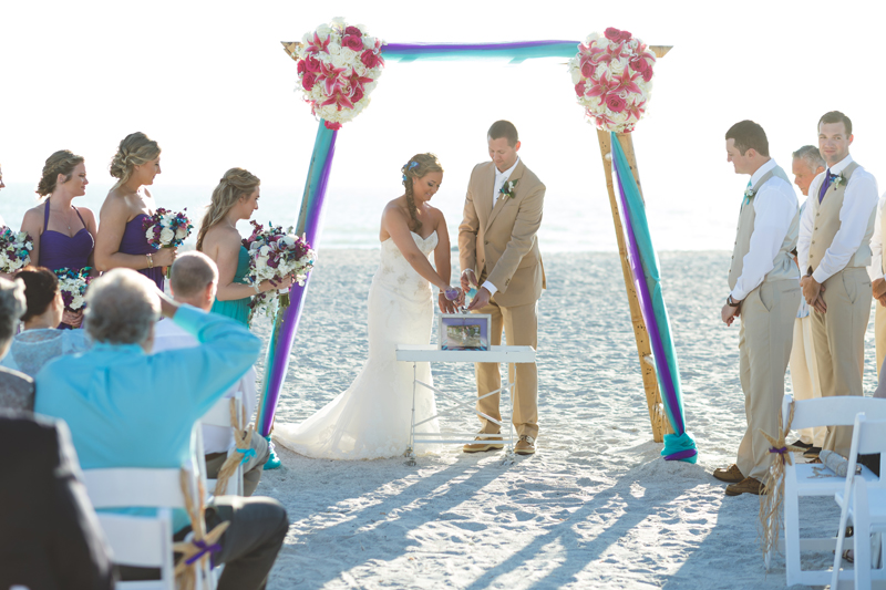 Sand ceremony - Tradewinds Island Grand Resort beach wedding - st pete beach - Jaime DiOrio Photography - Destination Orlando wedding photographer -  (46).JPG