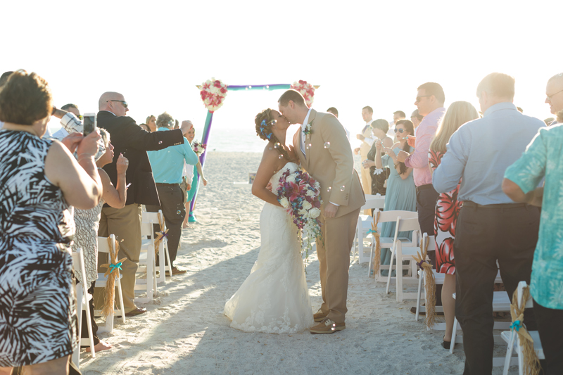 Bubble Exit at Beach wedding - Tradewinds Island Grand Resort beach wedding - st pete beach - Jaime DiOrio Photography - Destination Orlando wedding photographer -  (48).JPG