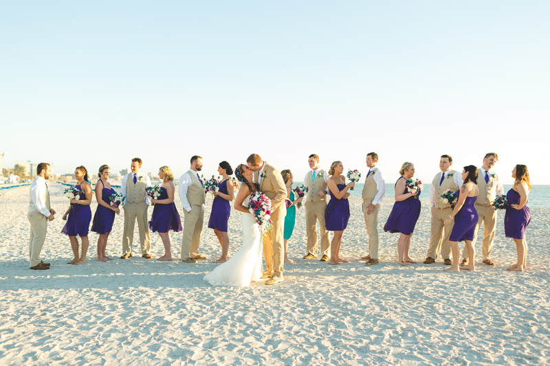 Fun wedding party photo - Tradewinds Island Grand Resort beach wedding - st pete beach - Jaime DiOrio Photography - Destination Orlando wedding photographer -  (50).JPG