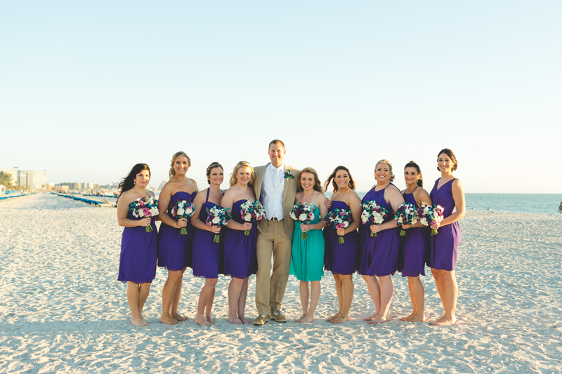 Groom with Bridesmaids - Tradewinds Island Grand Resort beach wedding - st pete beach - Jaime DiOrio Photography - Destination Orlando wedding photographer -  (51).JPG
