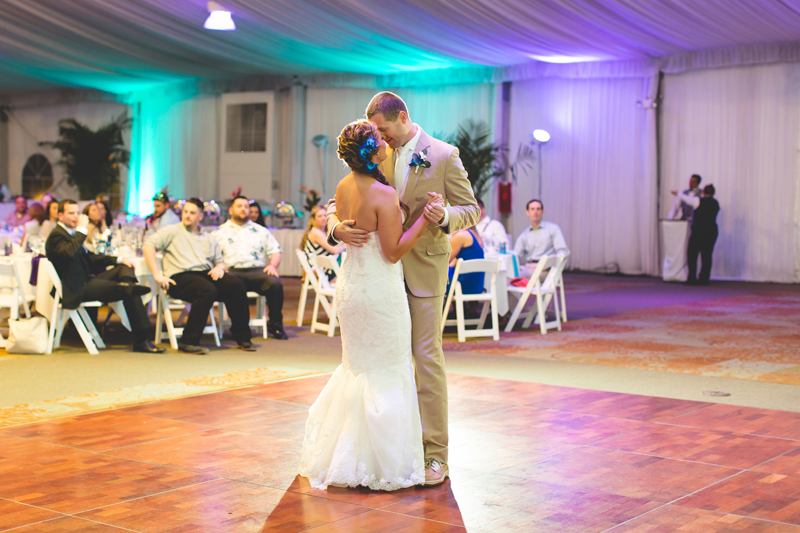 Bride and Groom First Dance - Tradewinds Island Grand Resort beach wedding - st pete beach - Jaime DiOrio Photography - Destination Orlando wedding photographer -  (64).JPG