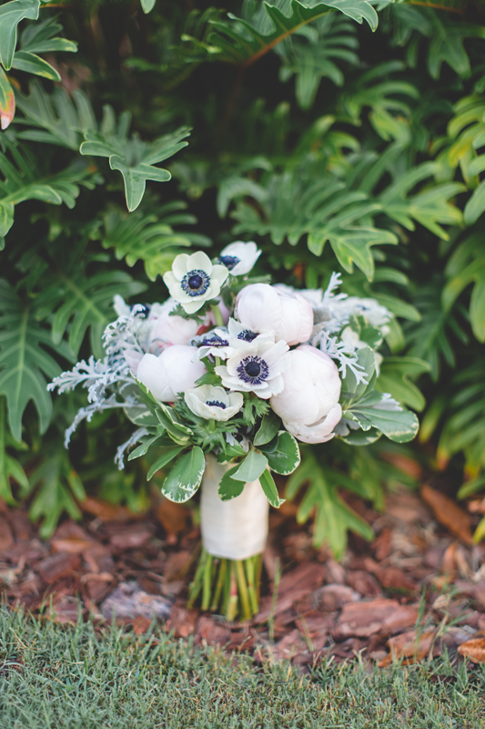 Blush Bridal bouquet with peonies and anemones - bohemian inspired outdoor wedding at Mission Inn Resort - howey in the hills fl - destination orlando wedding photographer - Jaime DiOrio (4).jpg