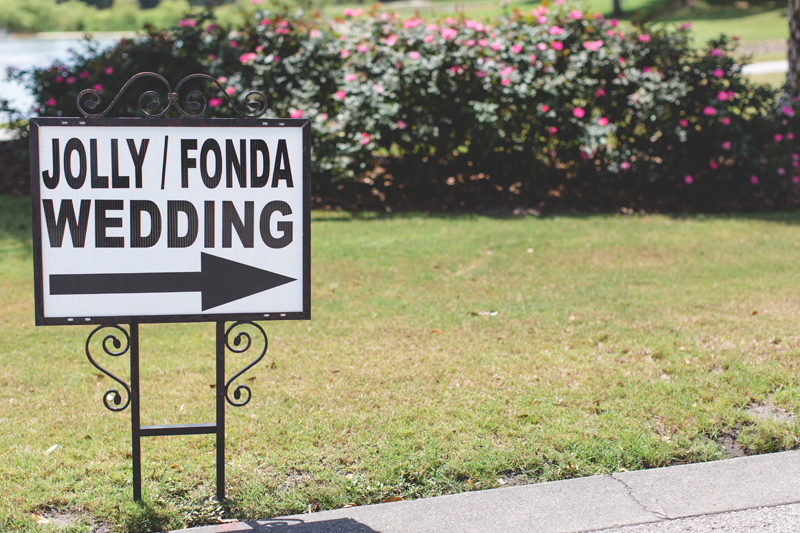 wedding sign - bohemian inspired outdoor wedding at Mission Inn Resort - howey in the hills fl - destination orlando wedding photographer - Jaime DiOrio (14).jpg