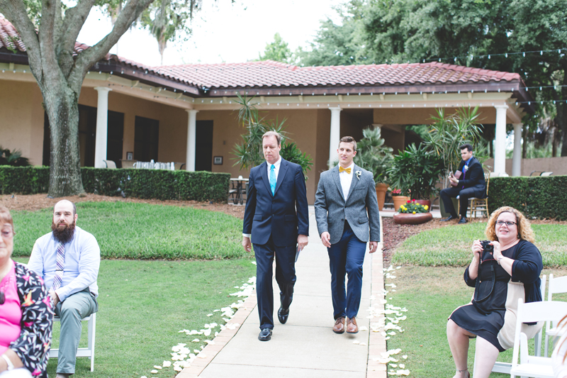 Groom walking to alter - bohemian inspired outdoor wedding at Mission Inn Resort - howey in the hills fl - destination orlando wedding photographer - Jaime DiOrio (51).jpg