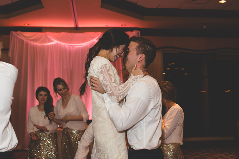 Bride and Groom dancing at reception - bohemian inspired outdoor wedding at Mission Inn Resort - howey in the hills fl - destination orlando wedding photographer - Jaime DiOrio (67).jpg
