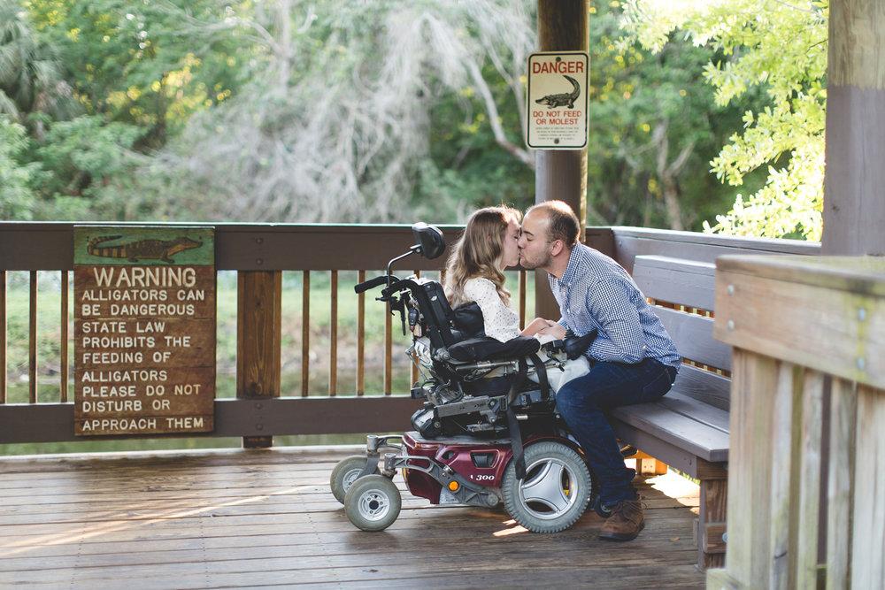 Sawgrass Lake Park Engagement Photographer - Sawgrass Lake Park Engagement session - wheelchair engagement photos - St Pete Engagement Photographer - Destination Orlando Wedding Photographer - Jaime DiOrio (28).jpg