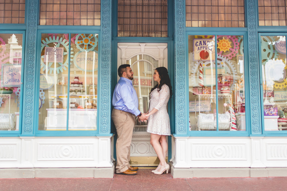 Jaime DiOrio - Disney Engagement Photo - Orlando Wedding Photographer - Orlando Engagement Photographer - Magic Kingdom Engagement photos.jpg