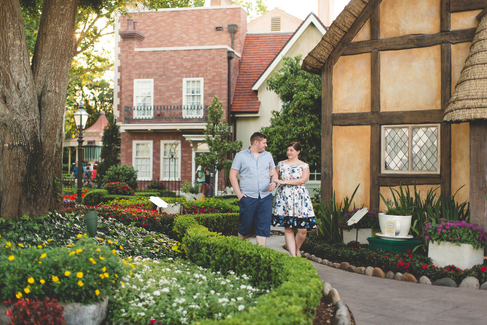 Jaime DiOrio - Disney World Engagement Photo - Orlando Wedding Photographer - Orlando Engagement Photographer - Epcot Engagement photos.jpg