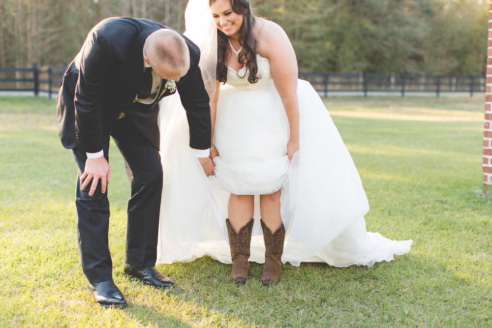 Destination-orlando-wedding-photographer-the-white-barn-wedding-southern-wedding-photos-outdoor-wedding-Jaime-DiOrio-bride-cowboy-boots.jpg