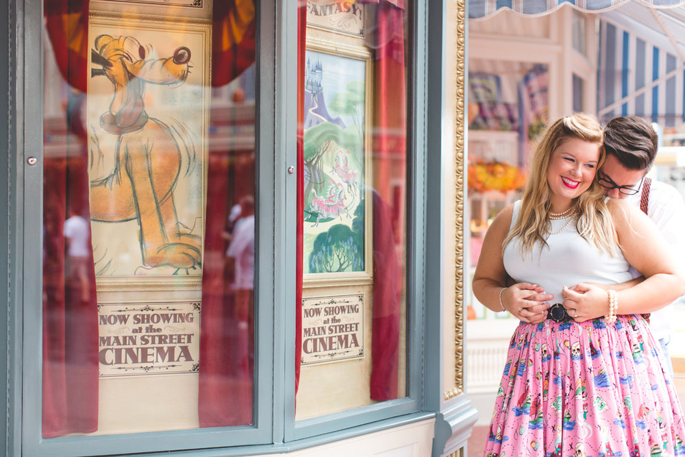 Disney engagement Session - Disney Engagement Photographer - Magic Kingdom Engagement Photos - Jaime DiOrio - Destination Orlando Wedding Photographer (1).jpg
