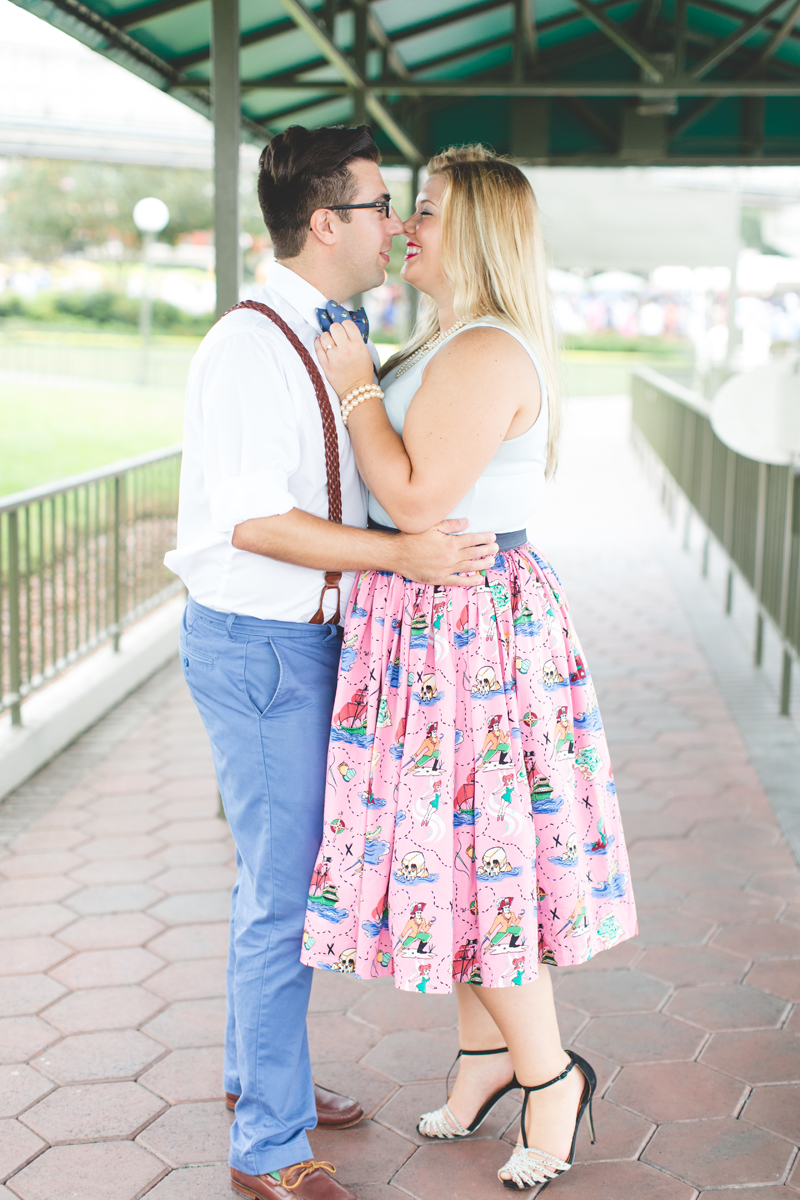 Disney engagement Session - Disney Engagement Photographer - Magic Kingdom Engagement Photos - Jaime DiOrio - Destination Orlando Wedding Photographer (33).jpg