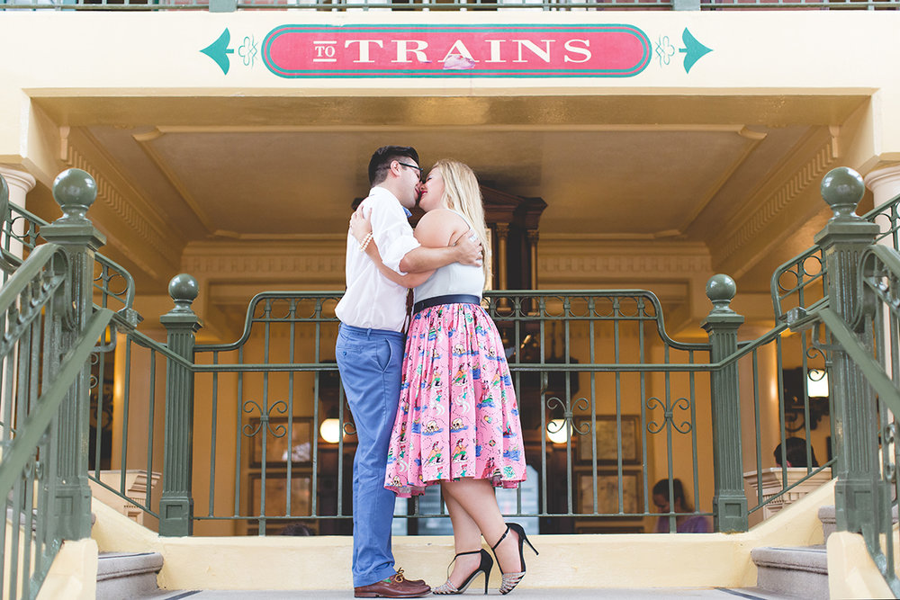 Disney engagement Session - Disney Engagement Photographer - Magic Kingdom Engagement Photos - Jaime DiOrio - Destination Orlando Wedding Photographer (37).jpg