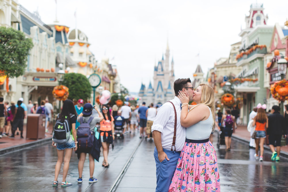 Disney engagement Session - Disney Engagement Photographer - Magic Kingdom Engagement Photos - Jaime DiOrio - Destination Orlando Wedding Photographer (46).jpg