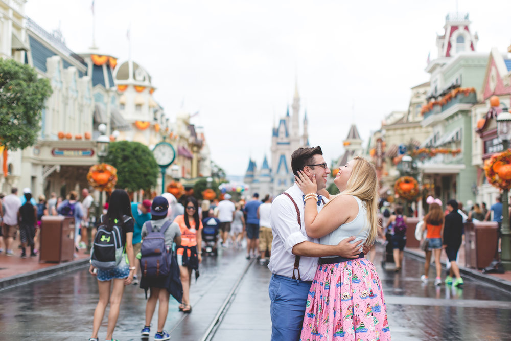 Disney engagement Session - Disney Engagement Photographer - Magic Kingdom Engagement Photos - Jaime DiOrio - Destination Orlando Wedding Photographer (47).jpg
