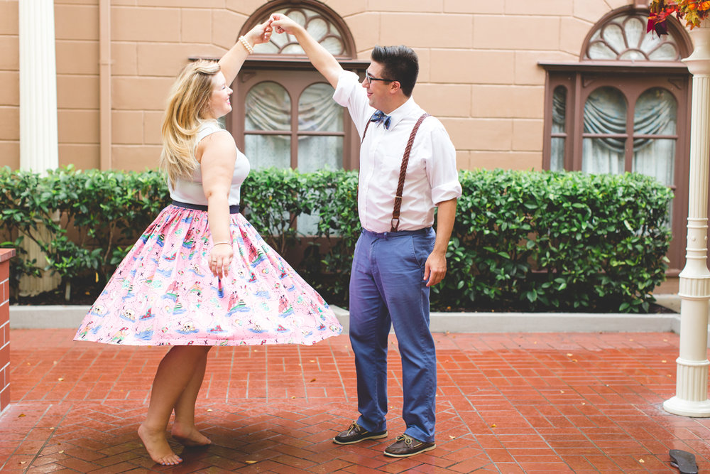 Disney engagement Session - Disney Engagement Photographer - Magic Kingdom Engagement Photos - Jaime DiOrio - Destination Orlando Wedding Photographer (66).jpg