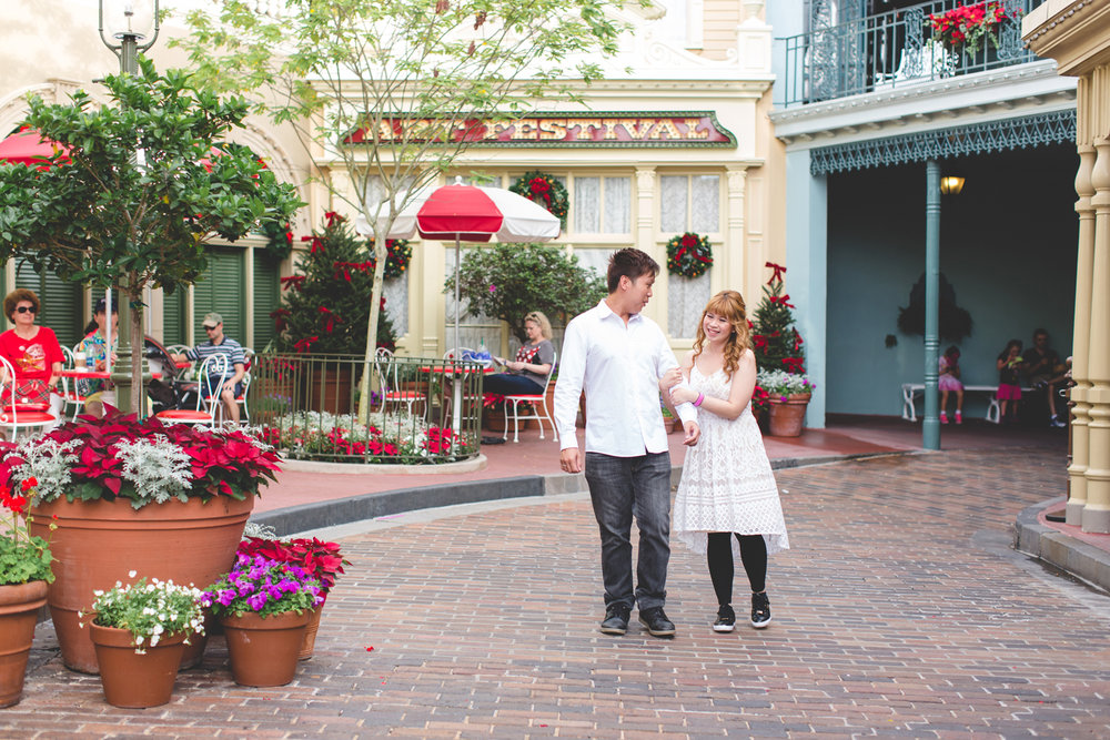 Disney Honeymoon session - Disney Engagement Photos - Disney Wedding Photographer - Destination Orlando Wedding Photographer - Jaime DiOrio (8).jpg