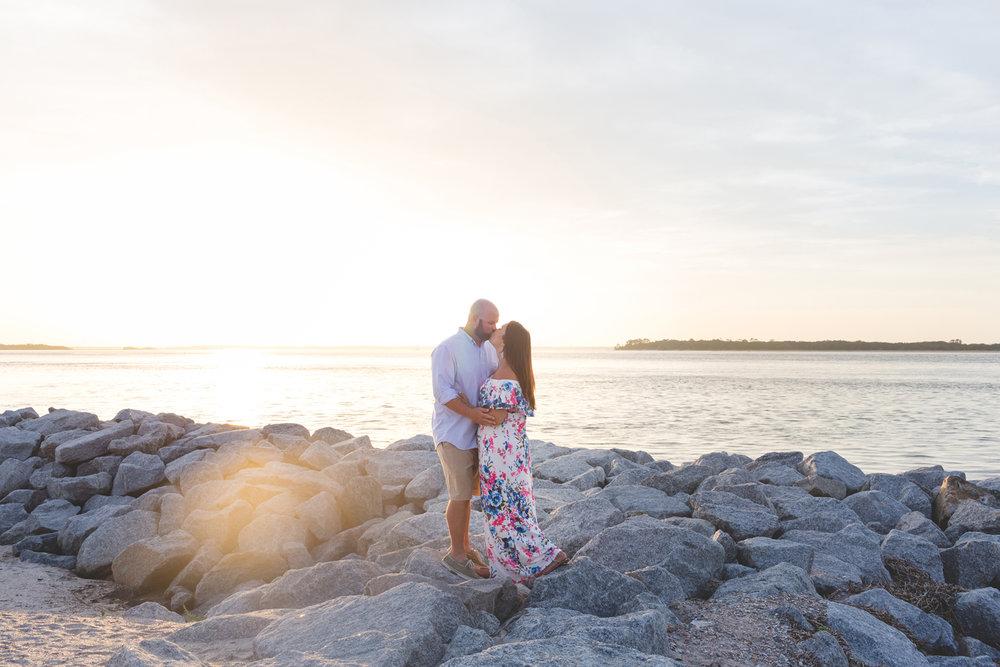 Fernandian Beach Sunset Engagement Photo