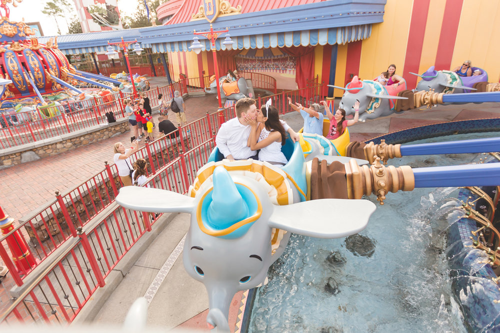 Jaime DiOrio Disney Enagement Photographer - Disney Wedding Photographer - Orlando Wedding Photographer - Dumbo photo.jpg