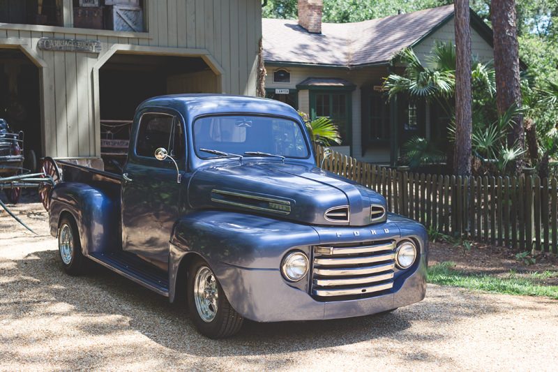Vintage Blue Truck owned by Groom