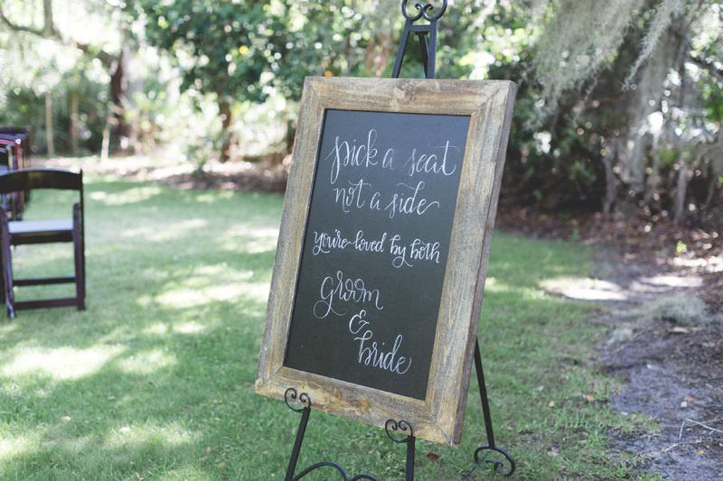 Chalkboard Ceremony seating sign
