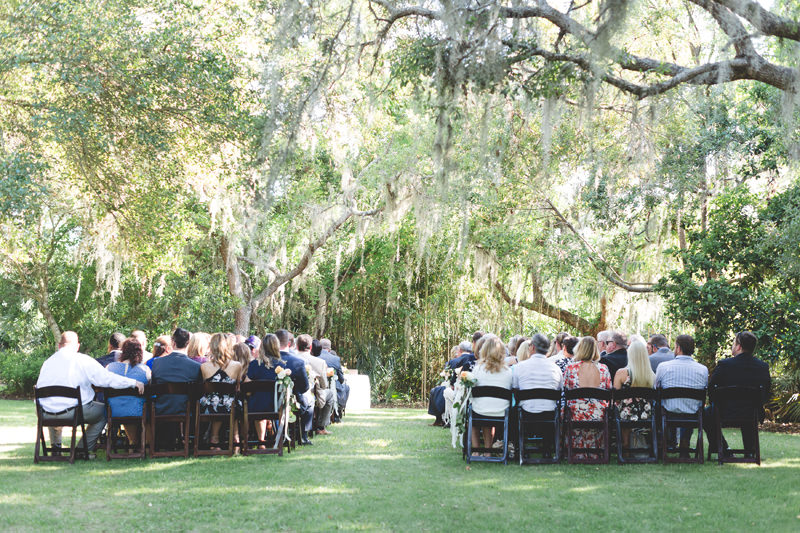 outdoor ceremony under canopy of trees at floridian manor estate