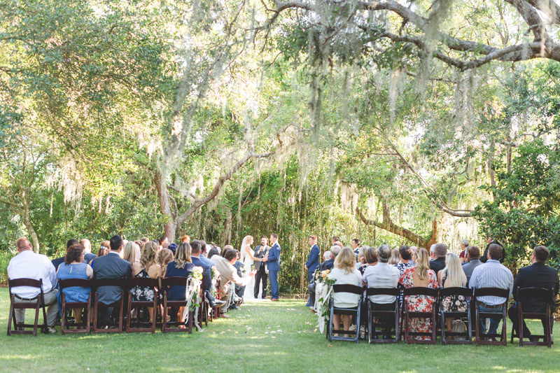 beautiful outdoor ceremony at floridian manor estate