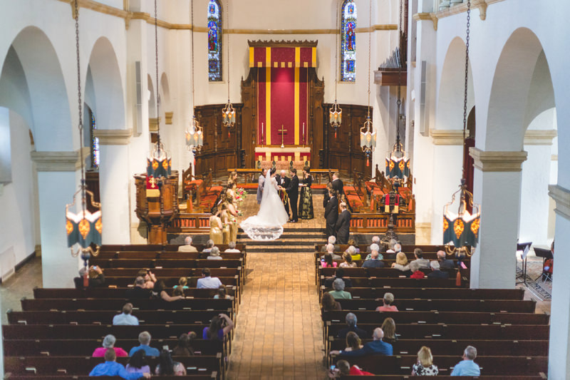 Balcony view of Knowles Memorial Chapel at Rollins College Disney Themed Wedding
