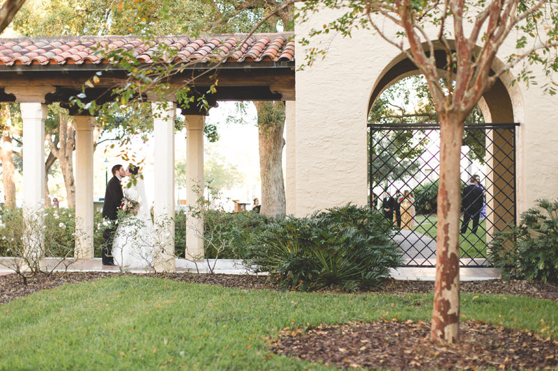 Wedding photo at Knowles Memorial Chapel at Rollins College Disney Themed Wedding