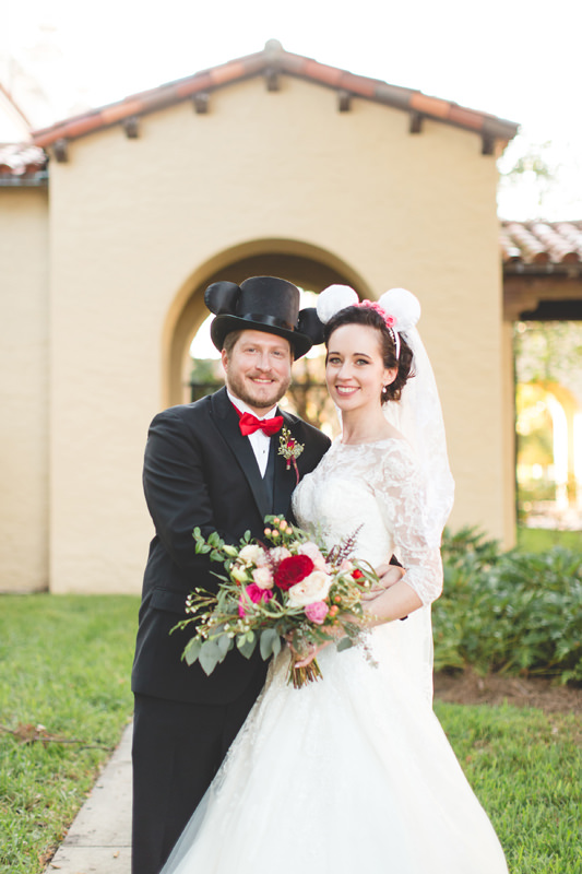Cute Disney Themed Wedding at Knowles Memorial Chapel at Rollins College