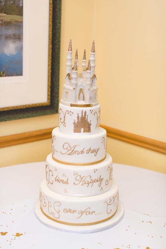 Cinderella wedding cake for Disney themed wedding