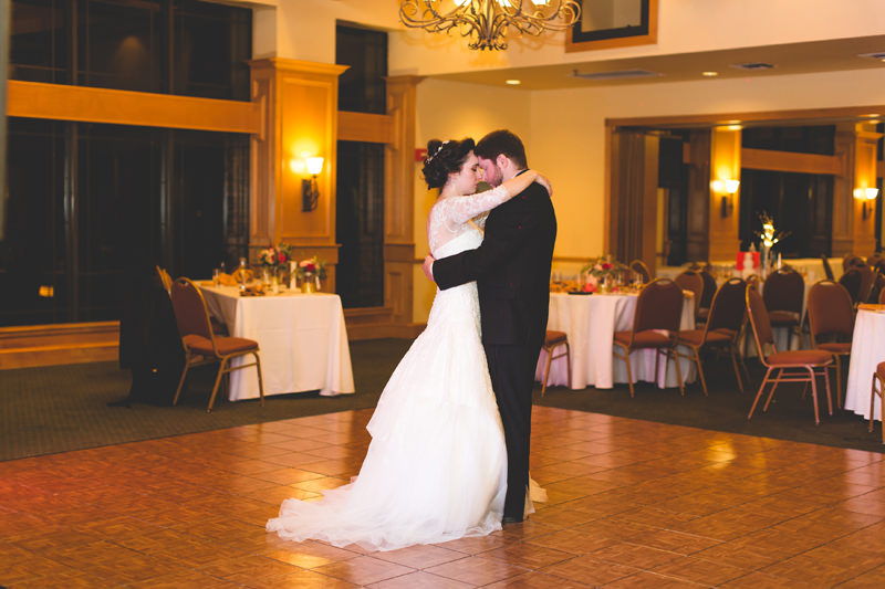 Bride and Groom dancing at Disney inspired reception