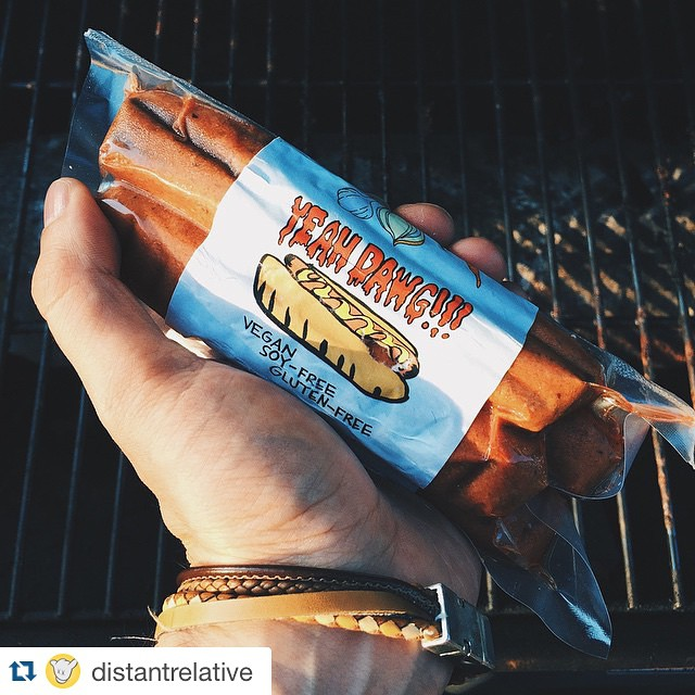 Don't forget to get your packs for 4th of July BBQ's!!! We have them on @goodeggsnyc or @haymakerscorner! Thanks to @distantrelative for this cool pic! ・・ About to fire up some @yeahdawgvegan! #nomeato going up on a #meatlessmonday. #Vegan #veggiedog #veganbbq #4thofJuly #veganhotdog #plantpower #plantbased #soyfree #glutenfree #vegansofig #vegangrillin #DawgDaysofSummer