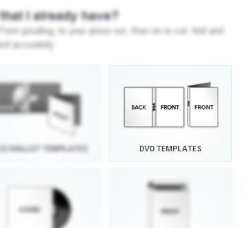 Select DVD Templates option