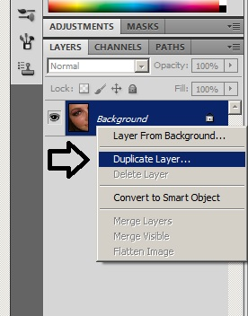 Duplicate Background Layer