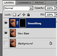Add a Black Layer Mask on the Smoothing Layer
