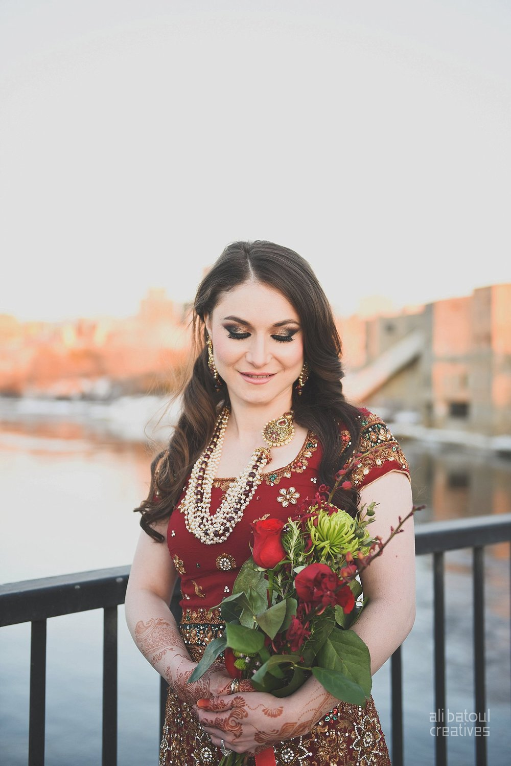 Indian-inspired bridal shoot - Ali Batoul Creatives (red)-21_Red Dress (BTS)