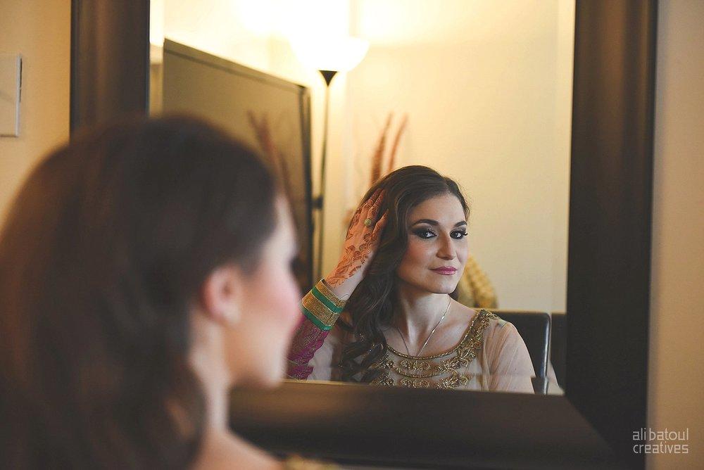 Indian-inspired bridal shoot - Ali Batoul Creatives-2_Green_Red Dress (BTS)