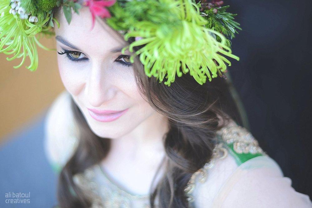 Indian-inspired bridal shoot - Ali Batoul Creatives-260_Green_Red Dress (BTS)
