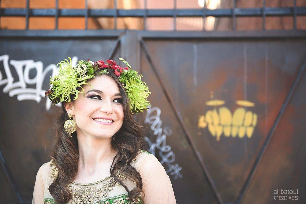 Indian-inspired bridal shoot - Ali Batoul Creatives-266_Green_Red Dress (BTS)