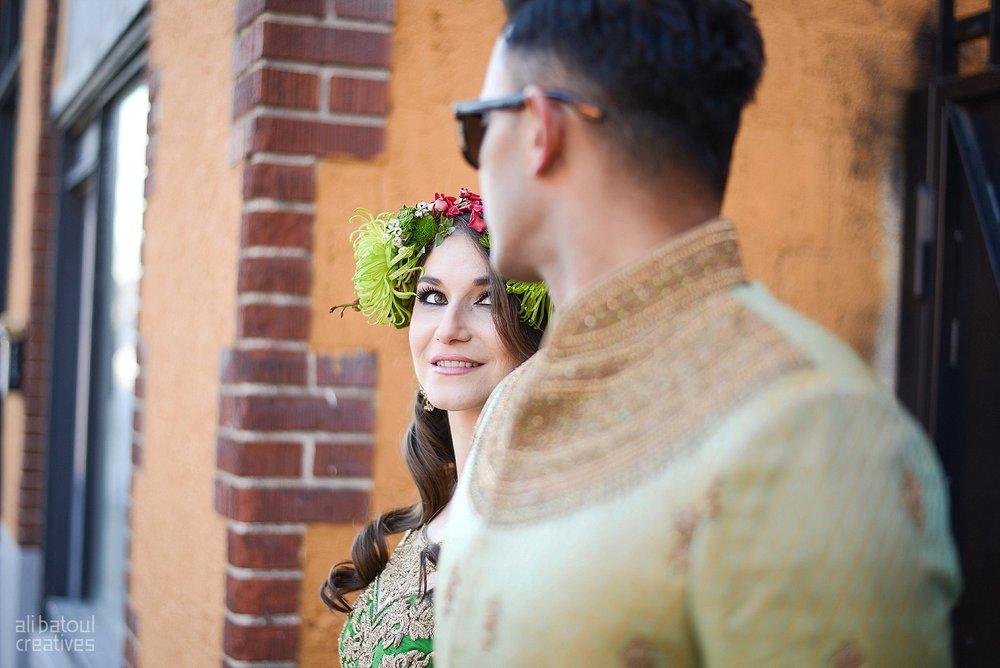 Indian-inspired bridal shoot - Ali Batoul Creatives-285_Green_Red Dress (BTS)