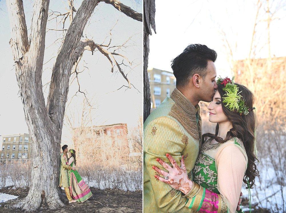 Indian-inspired bridal shoot - Ali Batoul Creatives-325_Green_Red Dress (BTS)
