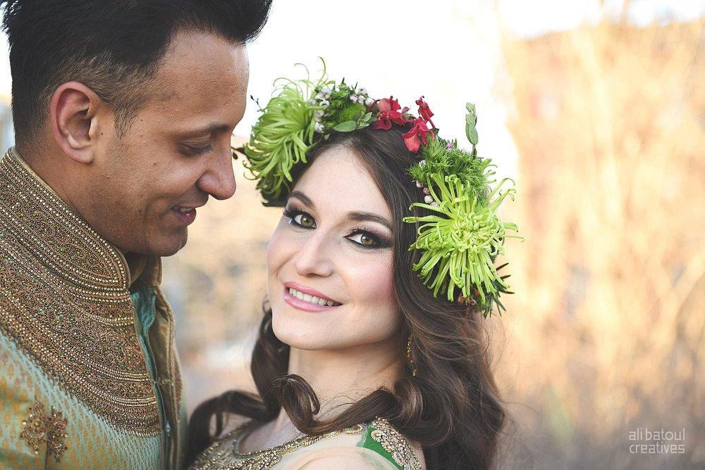 Indian-inspired bridal shoot - Ali Batoul Creatives-331_Green_Red Dress (BTS)