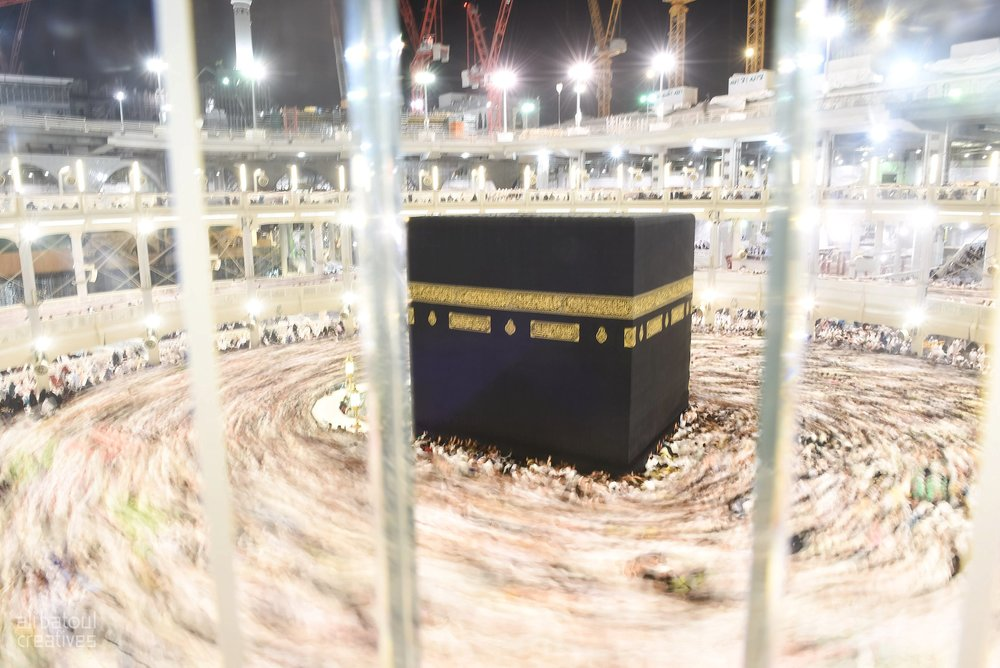 The Ka'aba in Mecca.