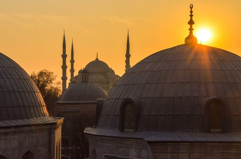 Istanbul, Turkey at sunset.
