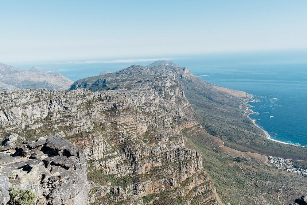 You can't leave this place without having 'climbed' or in our case 'cable-car-ed' our way up to Table Mountain.  Views were out of this world and the wind almost blew me off my feet!  Luckily, Hayat slept through most of it.