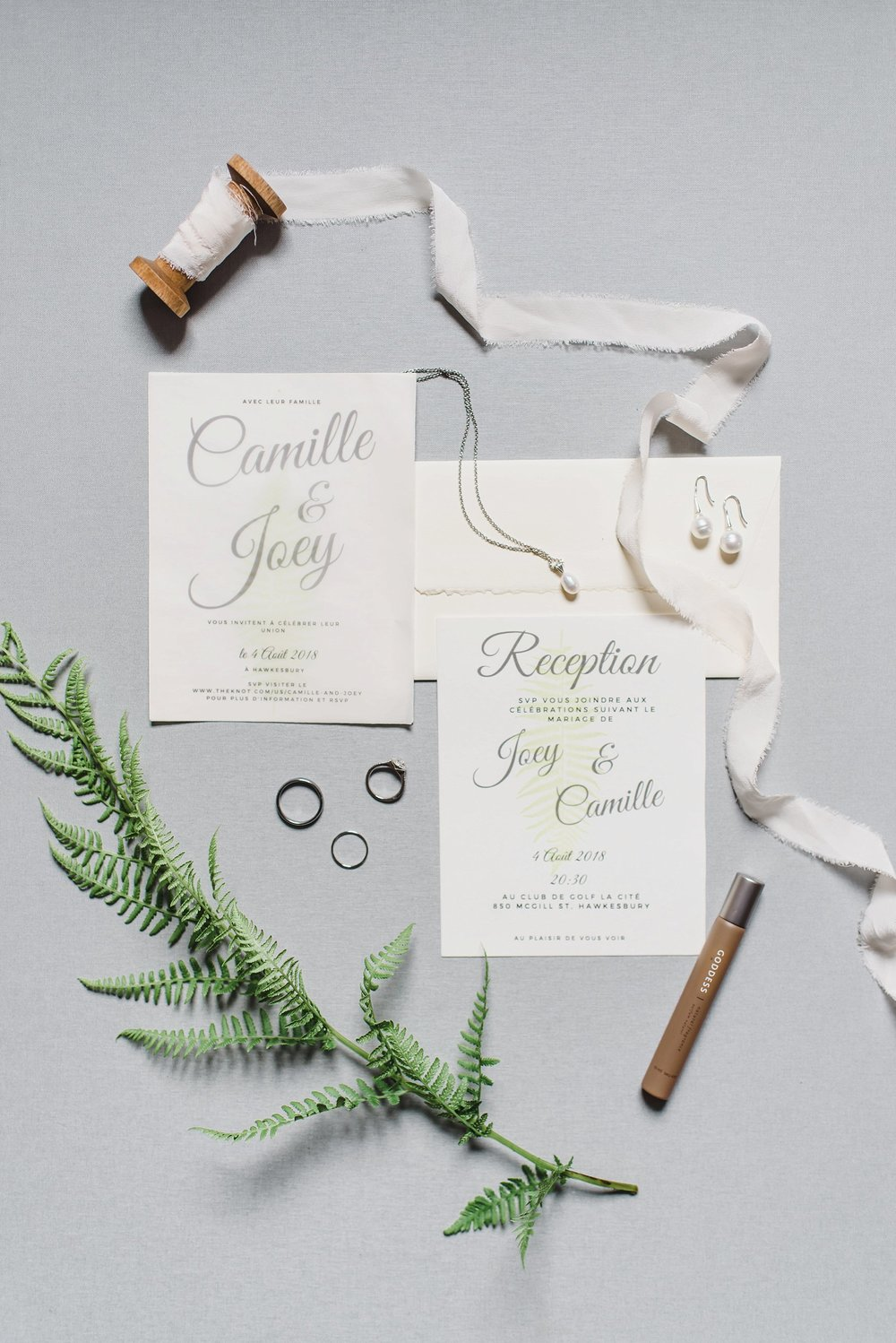 Camille designed the invitations herself!  Simple, sweet and beautiful.