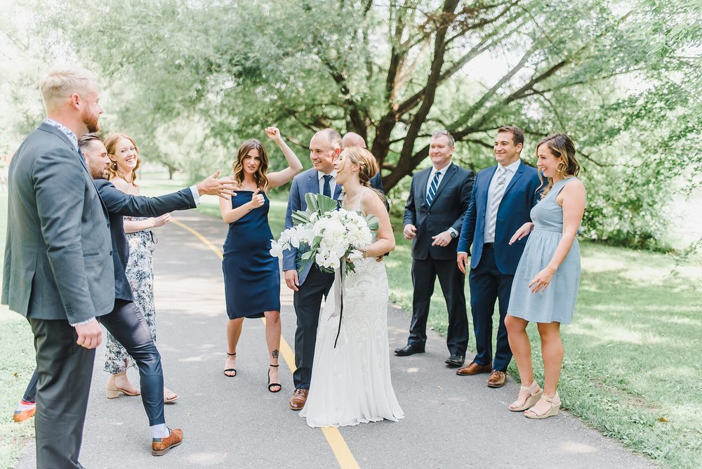 Their bridal party joined in for a few minutes and it was as fun as it looks…