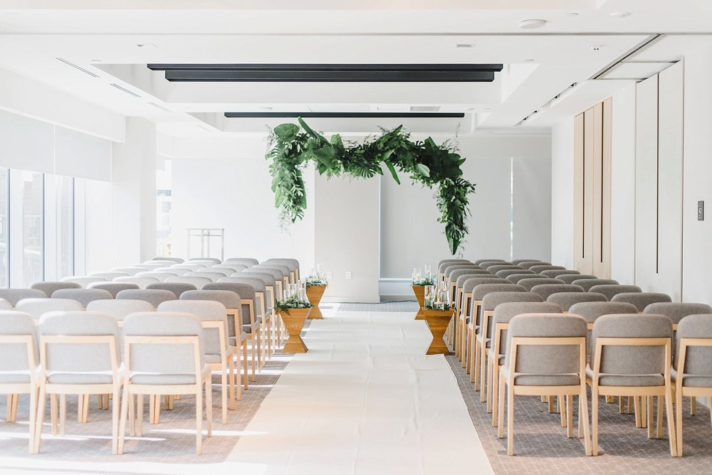 After we finished their portraits, we all headed on over to the Andaz Hotel early enough for them to relax, eat and enjoy more time together alone before the ceremony.